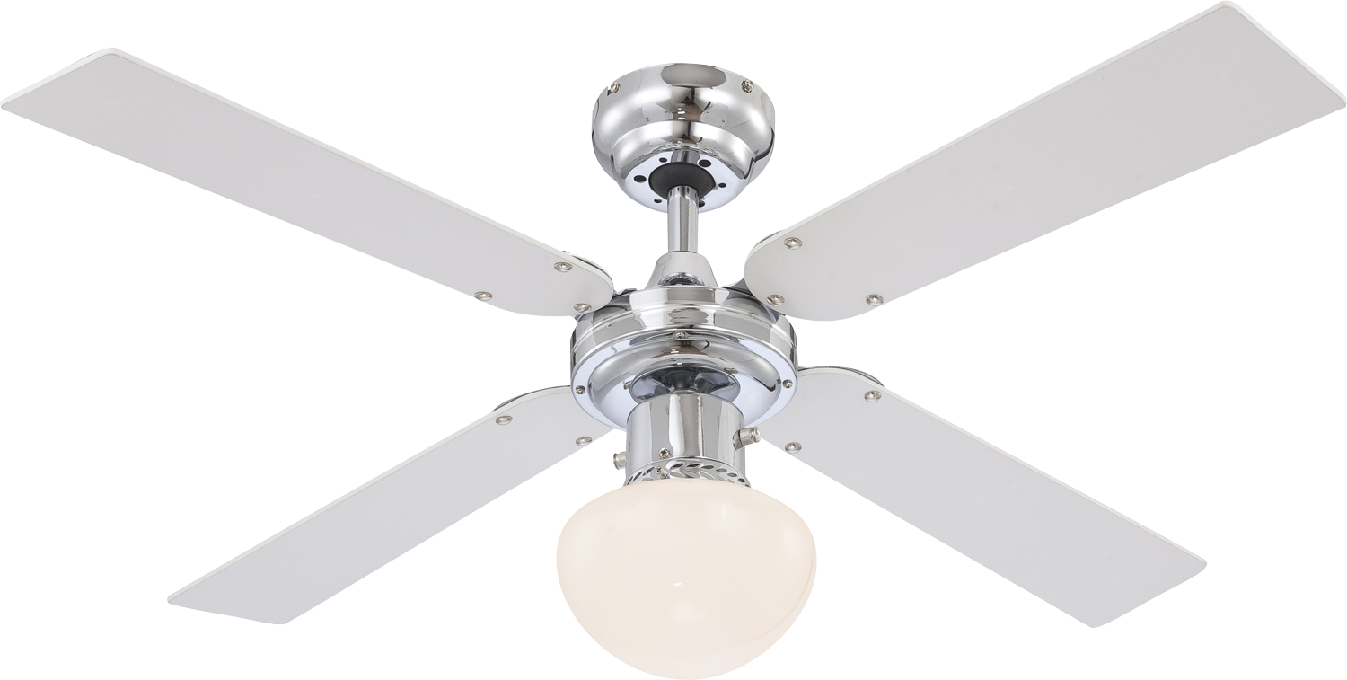 Globo Deckenventilator Champion chrom